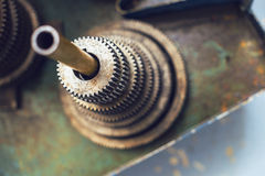 Un ensemble de vitesses en métal Fond de texture Images stock