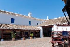 Un entraînement en La Mancha, Espagne. Photographie stock libre de droits