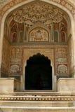 Un'entrata ad un tempiale in fortificazione ambrata, India Fotografia Stock Libera da Diritti
