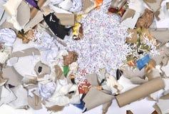 un envase de reciclaje de papel Foto de archivo libre de regalías