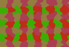 Un equipo amistoso de abstracciones rojas, verdes, rosadas compone un fondo creativo para la pantalla de ordenador, llama por tel foto de archivo