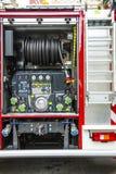 Un equipo del coche de bomberos Fotografía de archivo libre de regalías