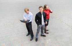Un equipo del negocio en la calle Fotografía de archivo libre de regalías