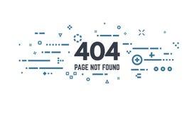 un errore di 404 pagine Immagine Stock