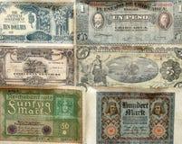 Un'esazione di vecchie banconote fotografia stock libera da diritti
