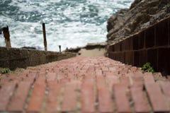 Un escalier dans l'extrémité de terres, San Francisco Photos libres de droits