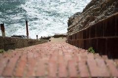 Un escalier dans l'extrémité de terres, San Francisco Photographie stock libre de droits