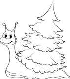 Un escargot vert heureux Image libre de droits