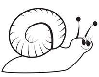 Un escargot vert heureux illustration stock
