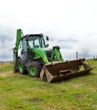 Un escavatore a cucchiaia rovescia della costruzione Fotografia Stock