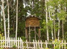 Un escondrijo de madera en Alaska Foto de archivo libre de regalías