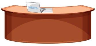 Un escritorio vacío del estudio de las noticias ilustración del vector