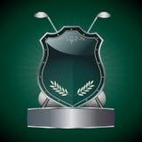 Escudo del golf ilustración del vector