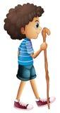 Un'escursione giovane del ragazzo illustrazione di stock