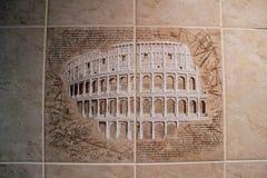 Un esempio delle mattonelle decorative per allineare il bagno Immagine Stock Libera da Diritti