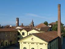 Un esempio fine di reconversione industriale nella città di Soncino Fotografia Stock Libera da Diritti