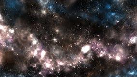 Un espacio de la galaxia, atmósfera con las estrellas en el fondo oscuro Imagenes de archivo