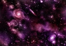 Un espacio de la galaxia, atmósfera con las estrellas en el fondo oscuro libre illustration