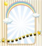 Un espacio vacío con las abejas y las camisas de la raya libre illustration