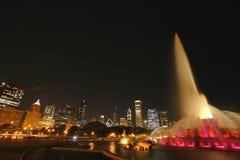 Un'esposizione chiara alla fontana di Buckingham Fotografia Stock Libera da Diritti