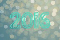 Un'esposizione da 2016 nuovi anni Fotografia Stock Libera da Diritti
