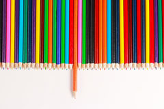 Un'esposizione delle matite colorate Fotografie Stock