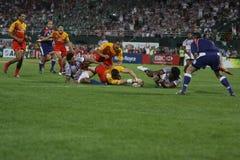 Un essai est marqué au rugby Sevens de Dubaï Photo stock