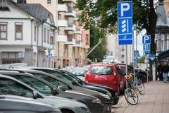 Un estacionamiento libre Imágenes de archivo libres de regalías