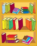 Un estante para libros stock de ilustración