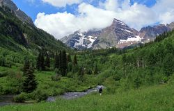Un'estate scenica a Belhi marrone rossiccio, Colorado fotografia stock libera da diritti