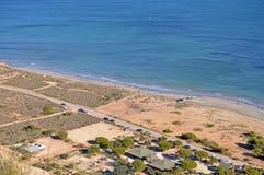 Un estiramiento estéril de la costa española Fotografía de archivo