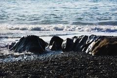 Un estratto sulla spiaggia fotografie stock libere da diritti