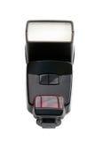 Un estroboscópico de la cámara aislado en blanco Imágenes de archivo libres de regalías