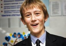 Un estudiante feliz del liceo Imagen de archivo