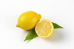 Un et demi citron Photographie stock libre de droits