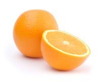 Un et demi d'oranges Images stock