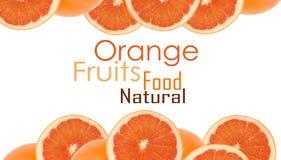 Un et demi d'oranges Photographie stock libre de droits