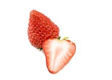 Un et demi fraise Photo libre de droits