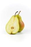 Un et demi poires mûres Image libre de droits