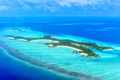 Un et seulement Reethi Rah, île d'été et île-hôtel de Madivaru Photo stock