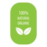 un'etichetta organica naturale di 100 per cento Fotografie Stock Libere da Diritti