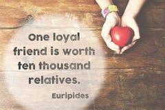 Un Euripide loyal Photos stock