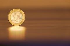 Un euro Image libre de droits