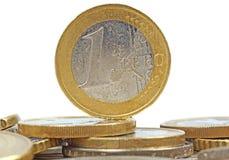 Un euro Fotografie Stock Libere da Diritti