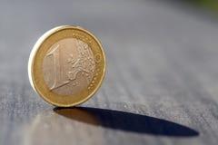 Un euro Fotografía de archivo
