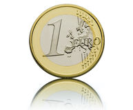 Un euro Photographie stock