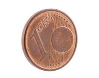 Un euro cent Photographie stock