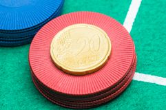 un euro da 20 centesimi Immagine Stock Libera da Diritti
