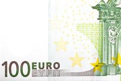 Un euro del billete de banco 100 Imágenes de archivo libres de regalías