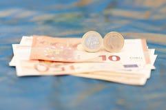 Un euro irlandese Fotografia Stock Libera da Diritti